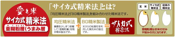 サイカ式精米法発売!